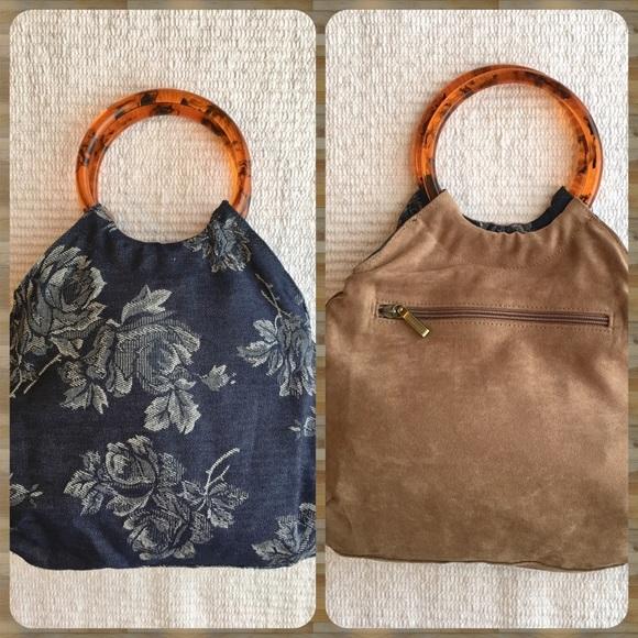 f0bb1d56b5 Rampage Bags | Vintage Hoop Handle Pursereversible Purse | Poshmark